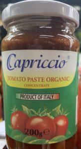 Capriccio Organic Tomato Paste (200gm)